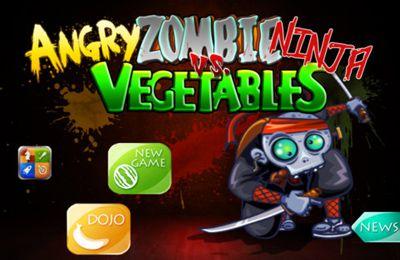 logo Zombies-Ninja enojados contra las verduras