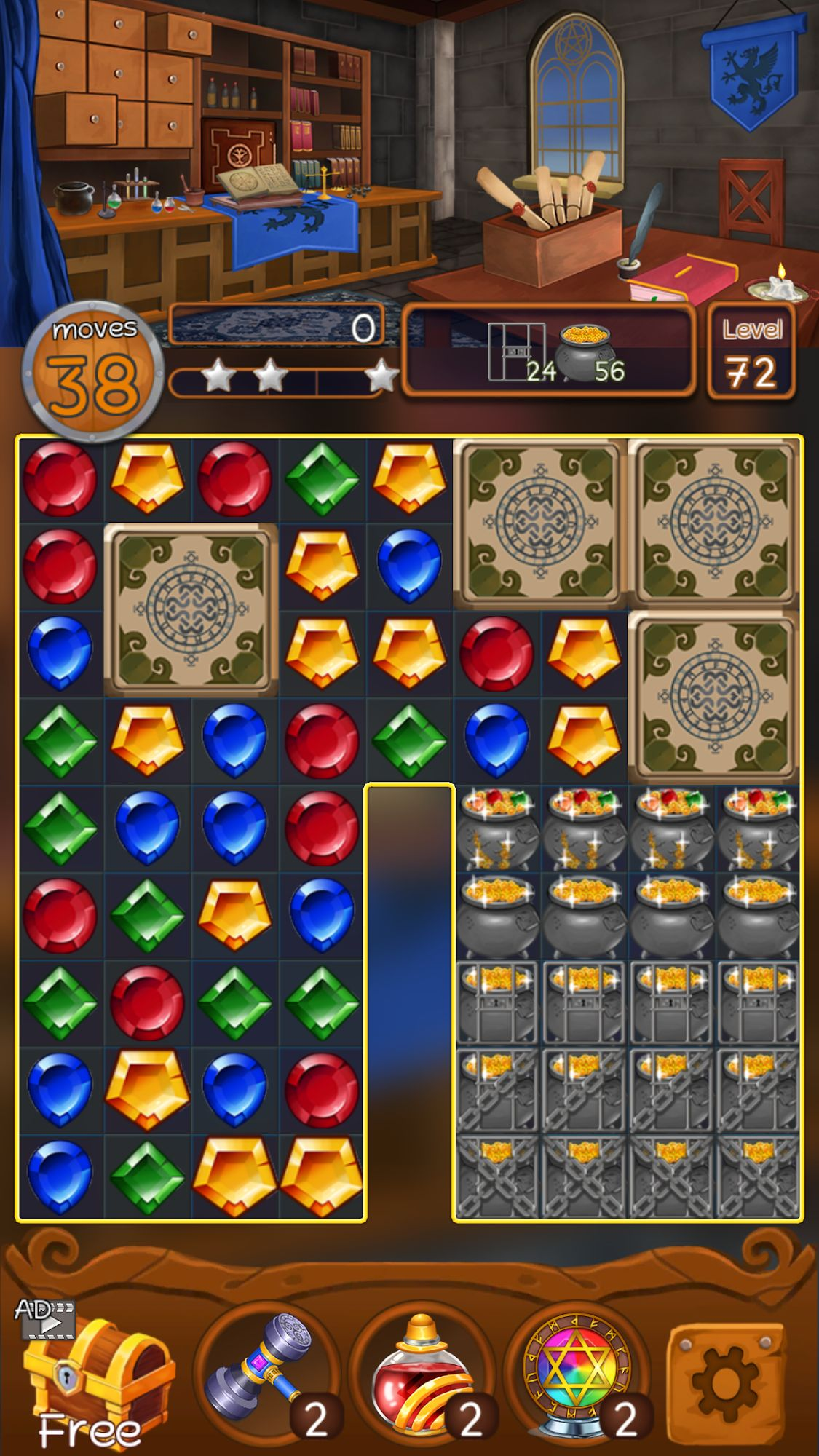 Jewels Magic Kingdom: Match-3 puzzle для Android