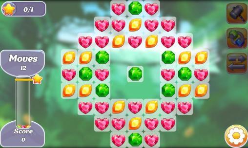 3 Gewinnt-Spiele Gems and dragons: 3 candy auf Deutsch