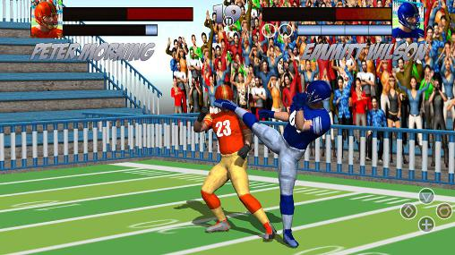 Fighting games Football rugby players fight for smartphone