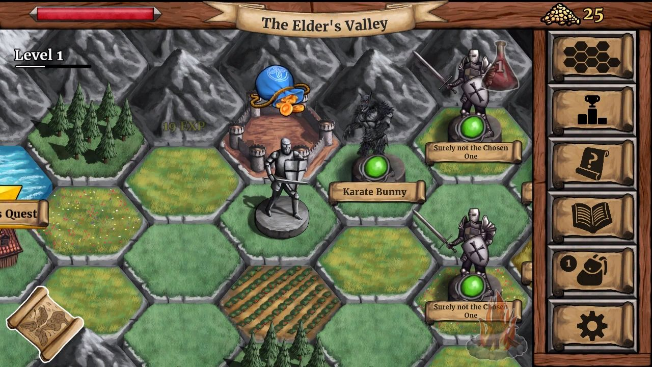 The Paladin's Story: Melee & Text RPG (Offline) para Android