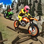 Moto racer dirt 3D Symbol