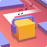 Dancing cube: Line jump. Tap tap music world tiles Symbol