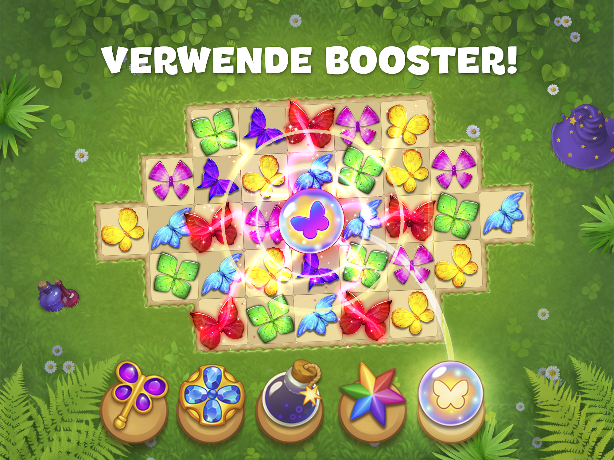 Butterfly Garden Mystery: Scapes Match 3 Story für Android