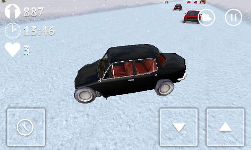 Russian snow traffic racer скриншот 1