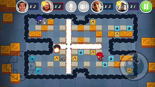 Arcade-Spiele: Lade Abenteuer des Ninjajungen: Bomberman Edition auf dein Handy herunter