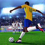 Freekick champion: Soccer world cup icon