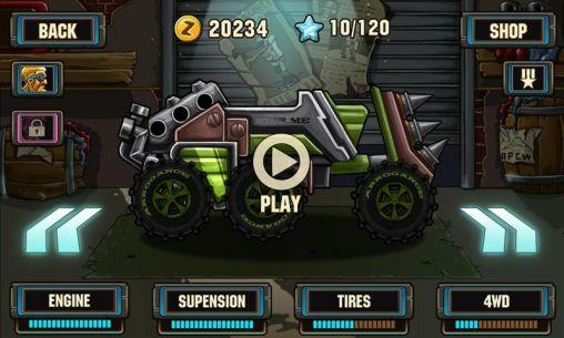 Arcade Zombie road racing für das Smartphone