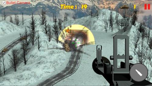 Arcade Tank shooting: Sniper game für das Smartphone