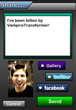 Vampire Transformer for iPhone for free