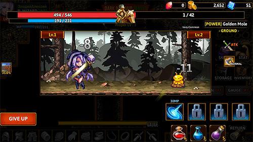 Juegos de rol Darkside dungeon para teléfono inteligente