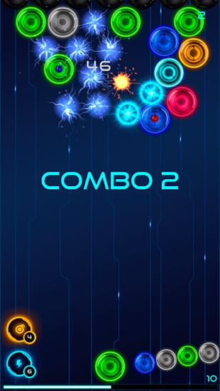 Magnetic balls 2: Glowing neon bubbles для Android