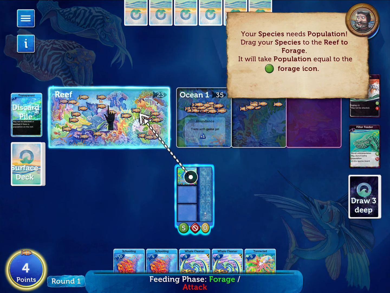 Oceans Board Game Lite captura de pantalla 1