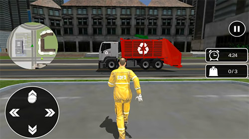 Garbage truck: Trash cleaner driving game captura de pantalla 3