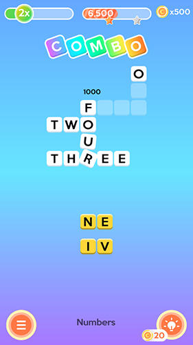 Letter bounce: Word puzzles in English