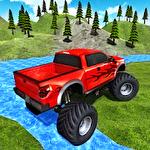 Monster truck driver 3D Symbol