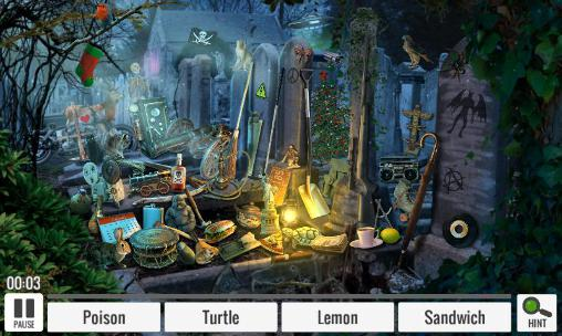Abenteuer-Spiele Vampires temple: Hidden objects für das Smartphone