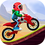 Stunt moto racing Symbol