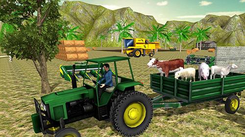 Traktor-Spiele Farm tractor simulator 18 auf Deutsch