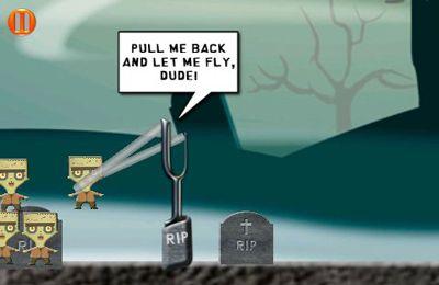 Wütende Zombies am Start für iPhone