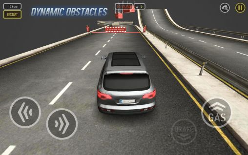 Rennspiele Car drive AT: Super parkour für das Smartphone