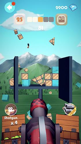 Arcade-Spiele Pot shot für das Smartphone
