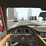 Racing in car icône