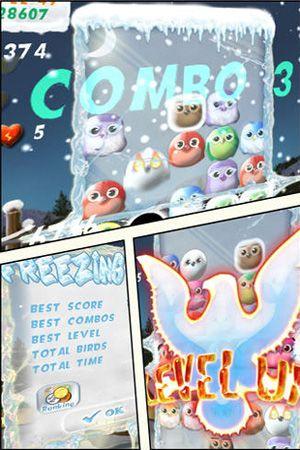 Jogos de arcade: faça o download de Aves congeladas para o seu telefone