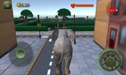 Simulation Ultimate elephant rampage 3D für das Smartphone