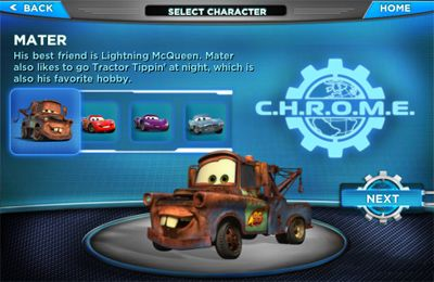 Racing games: download Cars 2 to your phone