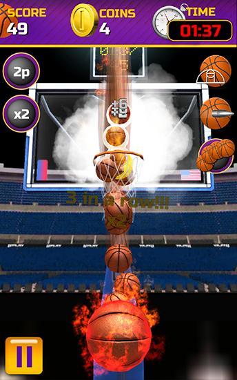 Swipe basketball Screenshot