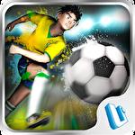 Brazil Germany world cup. Striker soccer: Brasil Symbol