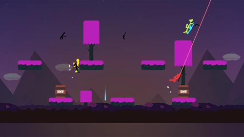 Pixelspiele Stickman: Legend of survival auf Deutsch