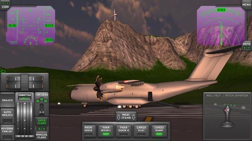 Turboprop flight simulator 3D Screenshot