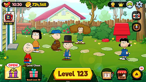 Games based on cartoons Snoopy spot the difference in English