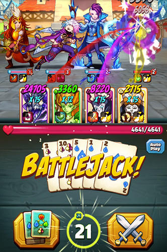 Kartenspiele Battlejack: Blackjack RPG auf Deutsch