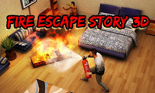 Fire escape story 3D Symbol