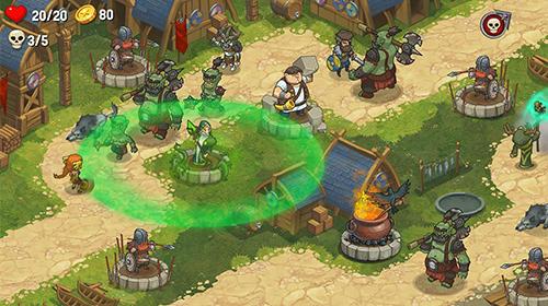 Orcs warriors: Offline tower defense für Android