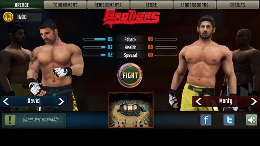 Fighting games Brothers: Clash of fighters for smartphone