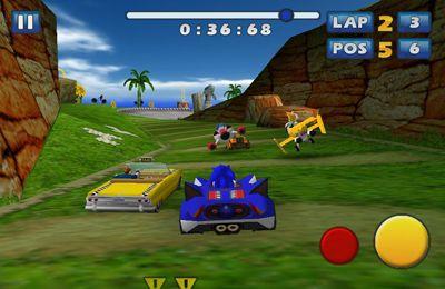 Les Courses de Sonic et de tous les Stars de SEGA pour iPhone gratuitement