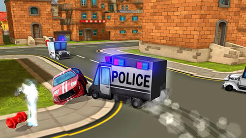 Arcade Blocky cop pursuit terrorist für das Smartphone