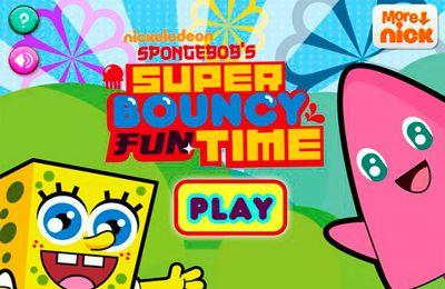 logo Sponge Bob's Super Bouncy Fun Time