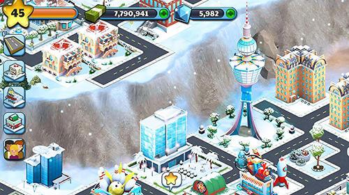 Wirtschafts-Strategie Snow town: Ice village world auf Deutsch