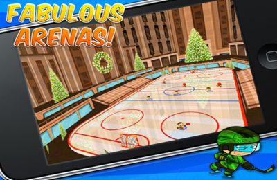 Screenshot Eishockeygame auf dem iPhone