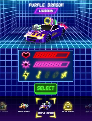 Neon drift: Retro arcade combat race for Android
