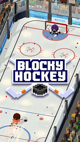 Blocky hockey: Ice runner скриншот 1