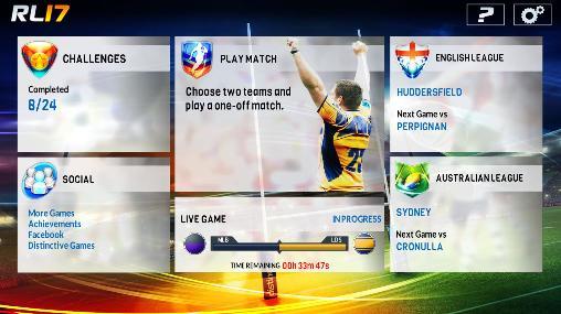 Jogos online Rugby league 17para smartphone