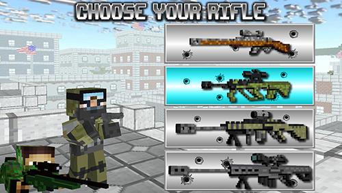 Actionspiele American block sniper survival für das Smartphone