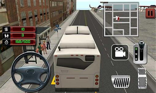 Simulation games City bus driver 3D for smartphone