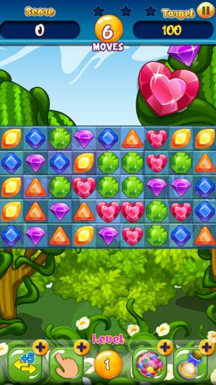 Juegos de arcade Jewels garden para teléfono inteligente